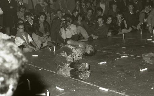 Bernard, Fete d'Actuel, Cirque d'Hiver, Paris 1982